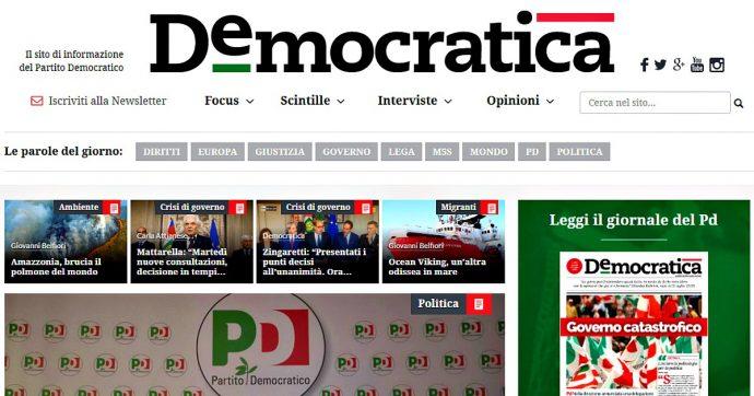 Pd, chiude il sito d'informazione Democratica. Allo studio una nuova piattaforma sul web
