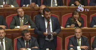 """Governo, l'intervento integrale di Salvini: """"Non la invidio presidente Conte-Monti. Siete passati dalla rivoluzione al voto di Casini e Renzi"""""""