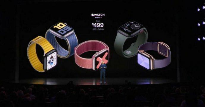 Apple Watch Serie 5 in arrivo il 20 settembre, i prezzi partono da 459 euro