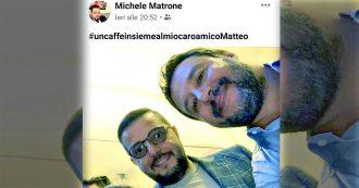 """Salvini, selfie con il figlio del boss di camorra. I parlamentari M5s in Antimafia: """"Chiarisca"""""""