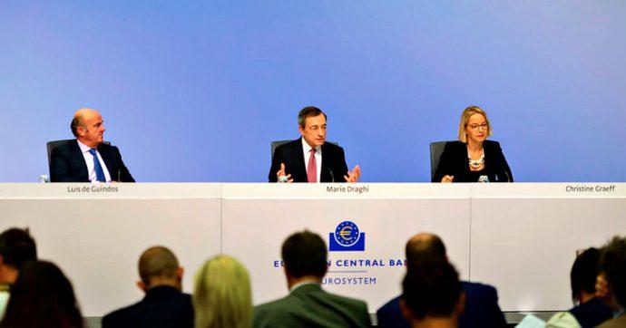 """Bce, Draghi: """"Nuovo qe da 20 miliardi al mese e tasso sui depositi tagliato a -0,5%. Ma ora i governi facciano politiche fiscali espansive"""""""