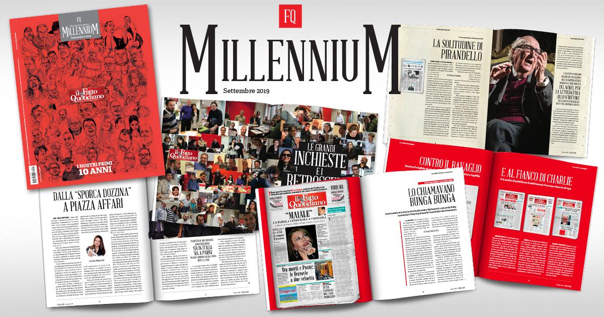 Dieci anni di Fatto Quotidiano: gli scoop, le inchieste, le gradi firme. Su FQ MillenniuM in edicola