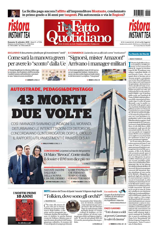 Prima Pagina Il Fatto Quotidiano -