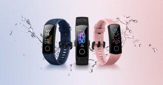 Honor Band 5 costa 30 euro, è impermeabile e offre monitoraggio dell'attività, del battito e del sonno