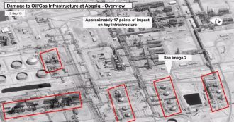 "Arabia Saudita, Cnn: ""Attacco alle strutture petrolifere lanciato da una base in Iran"""