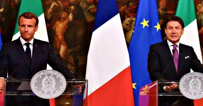 """Vertice Italia Francia, Conte: """"Disponibilità su sbarchi e ridistribuzione migranti"""". Macron: """"Penalizzare chi non partecipa"""""""