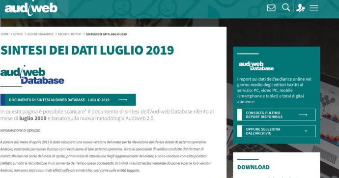 Audiweb 2.0, a luglio 2019 ilfattoquotidiano.it è il terzo quotidiano più letto. Sul podio con Repubblica e Corriere [LA CLASSIFICA]