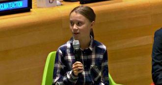 """Il monito di Greta Thunberg all'Onu: """"Siamo uniti e inarrestabili"""". L'attivista accolta da un'ovazione – VIDEO"""
