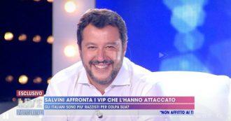 """Live Non è la D'Urso, scontro tra Matteo Salvini e Asia Argento: """"Mi hai dato della me**a"""""""