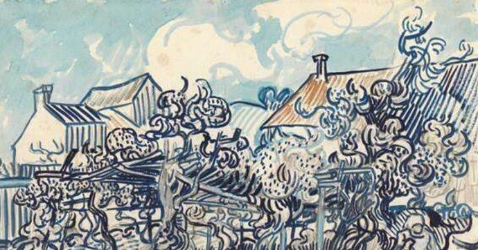 Disegni di Van Gogh sbiaditi e deteriorati, l'apprendimento automatico li restaura