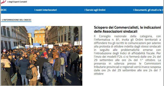 """Fisco, commercialisti verso lo sciopero contro i nuovi indici di affidabilità: """"Rischio di errori e a pagare saranno i contribuenti"""""""