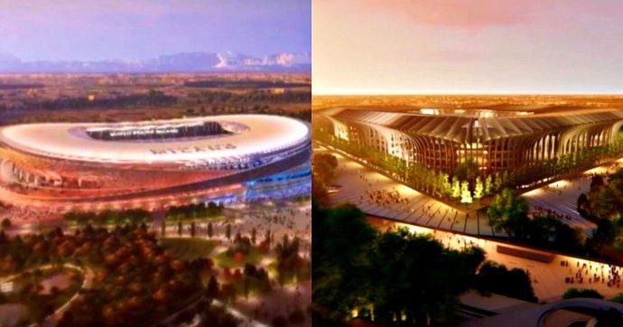 """San Siro, """"impossibile ristrutturare il Meazza"""": Inter e Milan presentano i due progetti del nuovo stadio. """"Ora ascolteremo la città"""""""