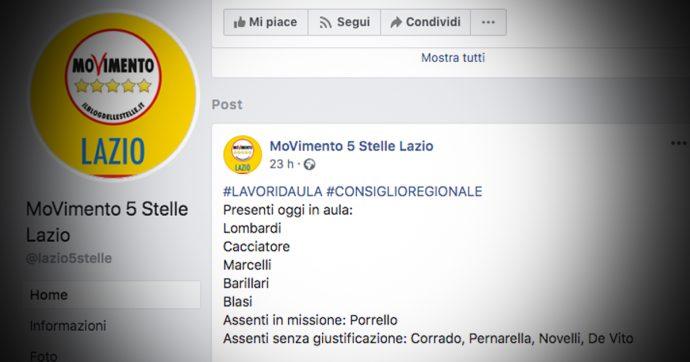 M5s Lazio, un post sulle assenze in Aula scatena la lite via social tra le anime del movimento