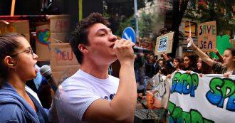 """Clima, l'appello al governo degli studenti in piazza: """"Parla di Green New Deal ma finanzia i combustibili fossili. Ora i fatti, non i selfie"""""""