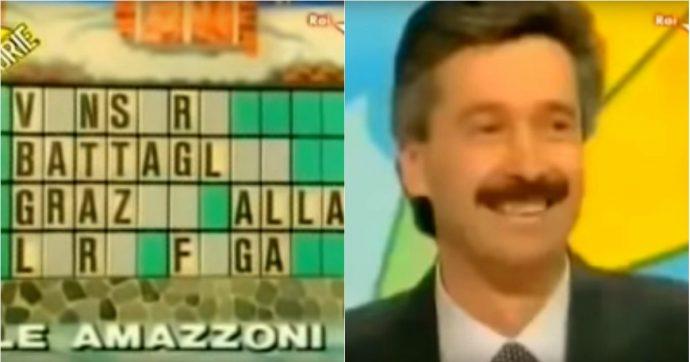 """Il signor Giancarlo e la risposta sulle Amazzoni alla Ruota della Fortuna: """"Rifarei tutto. Continuo a credere che 'figa' fosse la parola giusta"""""""