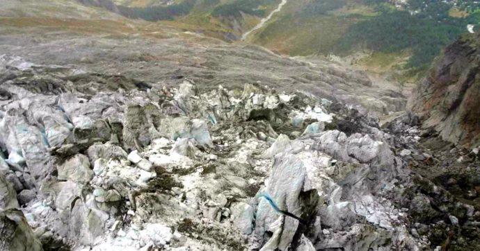 """Monte Bianco, """"una porzione del ghiacciaio Planpincieux accelera lo slittamento. Cadrà nei prossimi giorni, ma nessun pericolo"""""""