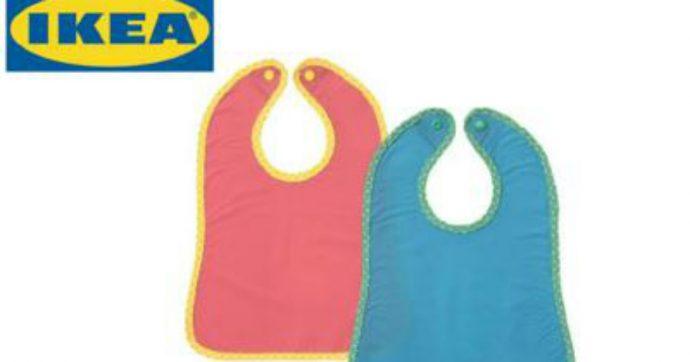 """Ikea ritira dal commercio il bavaglino """"Matvra"""": """"Rischio soffocamento, riportatelo in negozio"""""""