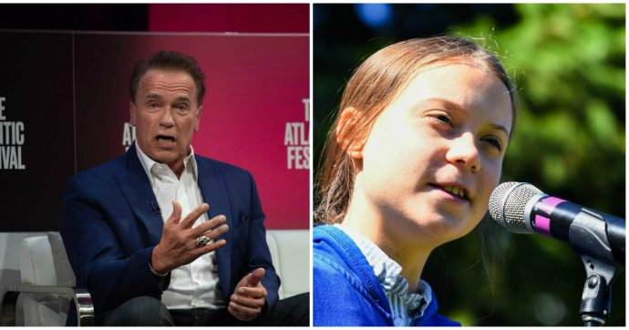 Arnold Schwarzenegger regala una Tesla a Greta Thunberg