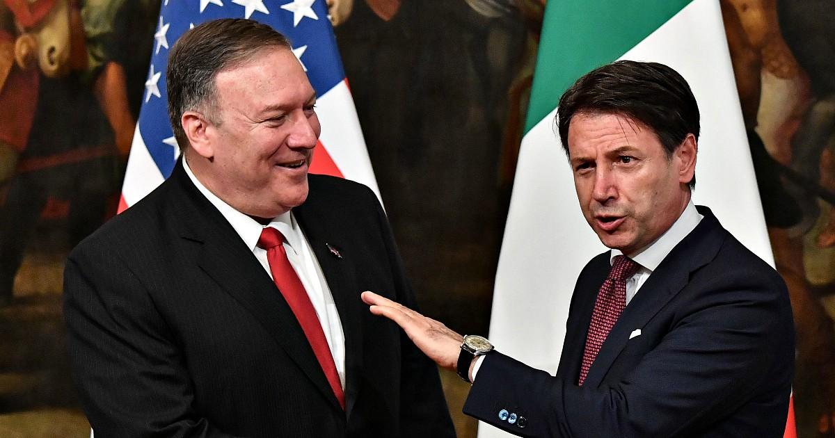 Mike Pompeo incontra Conte a Roma: dazi sui prodotti Ue e dossier libico i temi principali. E Washington chiede il distacco dalla Cina