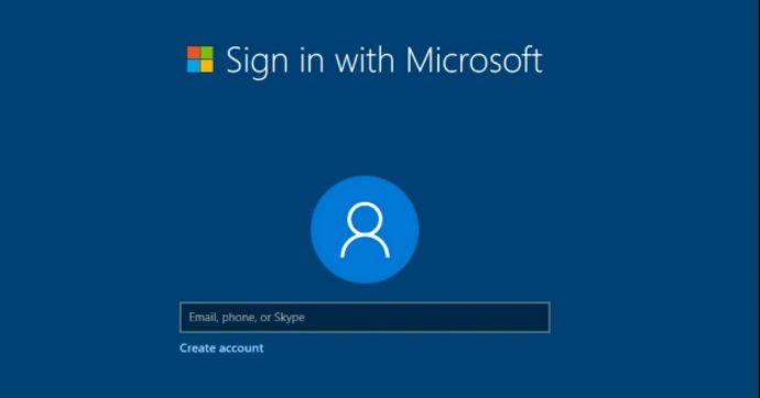 Windows 10 obbliga a creare un account Microsoft per l'installazione, ma c'è il trucco