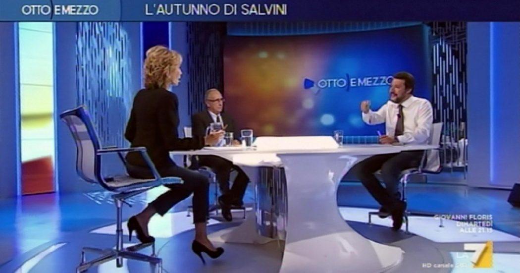 Salvini dalla Gruber, il pugile suonato s'è fregato da solo