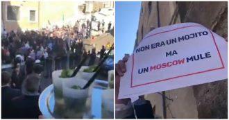 """Roma, Salvini in piazza: """"Raggi dimettiti"""". I consiglieri del M5s gli offrono un mojito: """"Non è il Papeete"""""""