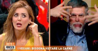 """Dritto e Rovescio, Jacopo Fo perde la pazienza e fa il verso a Daniela Martani: """"Stai zitta, stai zitta"""""""