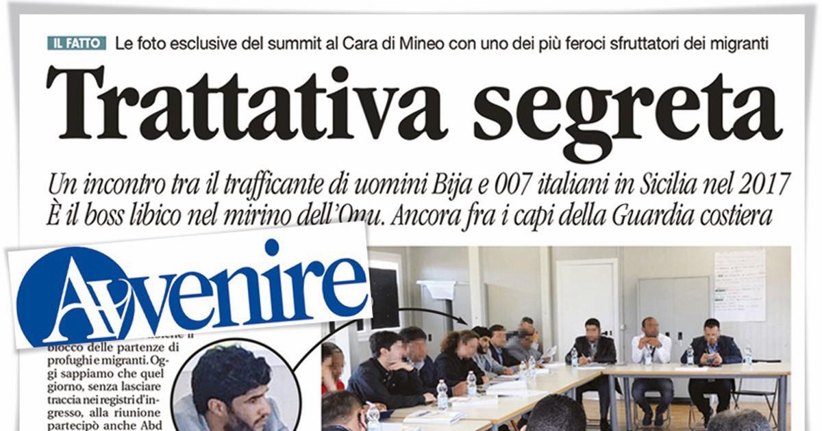 """Il vertice al Cara di Mineo col """"re degli scafisti"""" libico"""