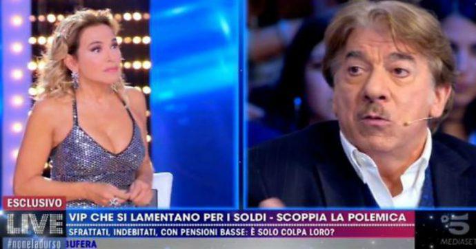"""Live Non è la D'Urso, Marco Columbro si scaglia contro Barbara D'Urso in diretta: """"Vengo lì e ti strappo il vestito, sono c***i miei"""""""""""