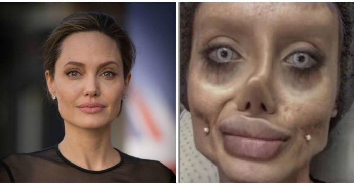"""Angelina Jolie, arrestata la sosia dell'attrice in versione """"sposa cadavere"""": accusata di blasfemia e istigazione alla violenza"""