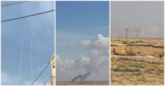 Siria, la Turchia inizia i bombardamenti aerei sulle città curde di Sere Kaniye e di Tel Abyad: le immagini