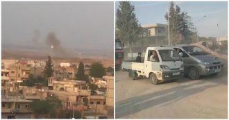 Siria, i bombardamenti turchi si estendono nel nord-est: i curdi fuggono dai centri abitati