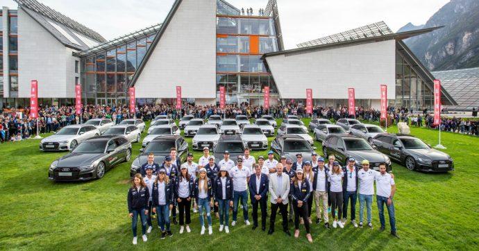 Audi, si rinnova la partnership con la Fisi. Consegnate 48 vetture agli atleti – FOTO