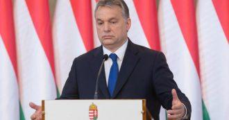 """Parlamento Ue, Orban rifiuta l'invito di Sassoli a riferire sulle misure in Ungheria durante l'emergenza. """"Le mie forze consumate"""""""