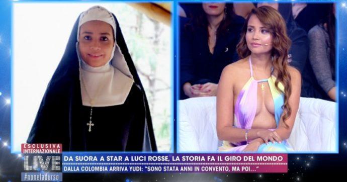 Live – Non è la D'Urso, Yudi Pineda: dal convento di suore ai set porno