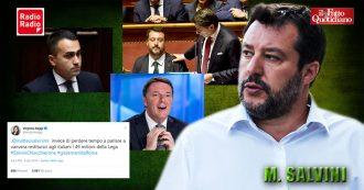 """Salvini: """"Confronto con Renzi? Non scappo mai"""". Poi attacca Raggi e Di Maio. Su Conte: """"Mi ha insultato più della mia prof. di filosofia"""""""