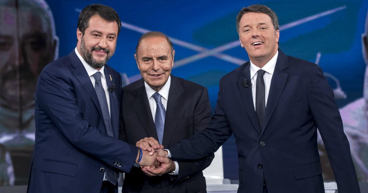 Salvini vs Renzi, un vero faccia a faccia sulla tv pubblica. Finalmente