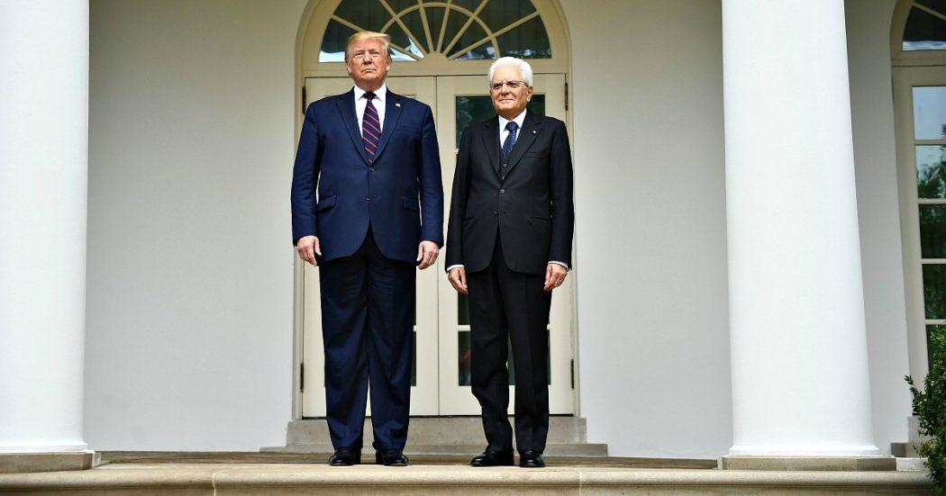 """Mattarella e Trump alla Casa Bianca: """"Su dazi no ritorsioni"""". Il tycoon: """"In Siria combattano la loro guerra. 5G? Soddisfatto da Italia"""""""