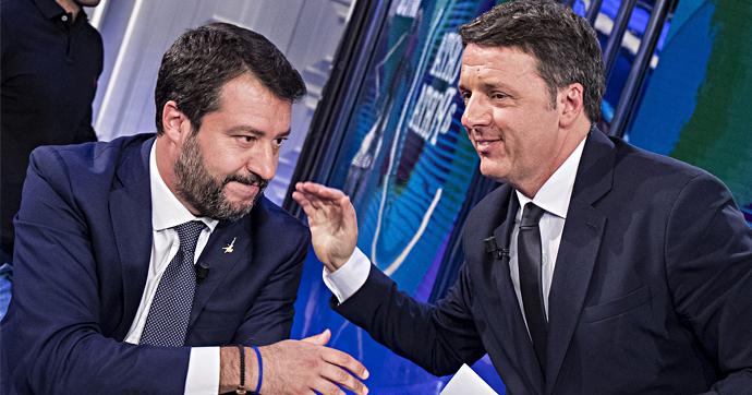 Salvini e Renzi, il pienone annunciato in piazza e la Leopolda senza Pd: il sabato italiano dei due Matteo disturbatori del governo Pd-M5s