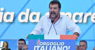"""Salvini: """"Al governo gente con le mani sporche di sangue. Questa non è piazza di estremisti"""""""