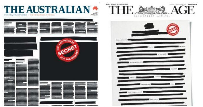 Australia, i quotidiani si censurano: la protesta per chiedere maggiore libertà d'informazione dopo i raid della polizia nelle redazioni
