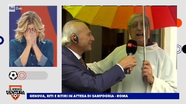 """La Domenica Ventura, il prete in collegamento bacchetta Simona: """"Non me ne frega niente che lei sia cattolica"""". Gelo in studio"""