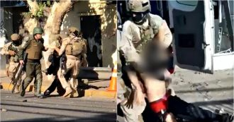 Cile, in un video poliziotti trascinano manifestante ferito dentro il furgone