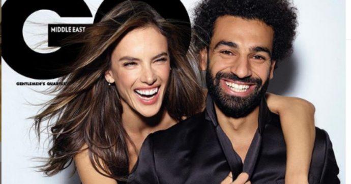 """Salah in copertina su GQ con Alessandra Ambrosio, scoppia la polemica: per i musulmani egiziani sono """"atti osceni in luogo pubblico"""""""