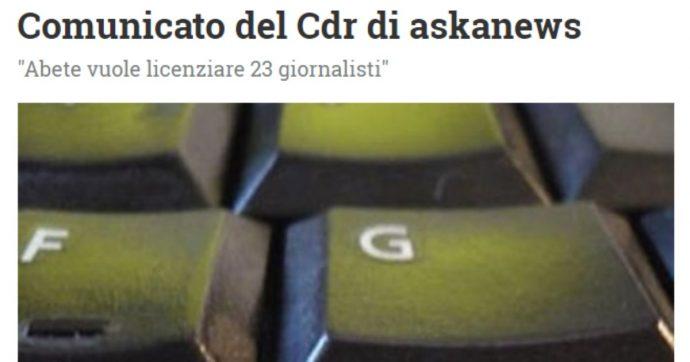 """Editoria, """"l'agenzia Askanews licenzia 23 giornalisti. Abete scarica sui lavoratori il peso di scelte gestionali discutibili"""""""