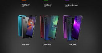 Motorola presenta tre nuovi modelli di fascia media e bassa con ottimi rapporti prestazioni-prezzo