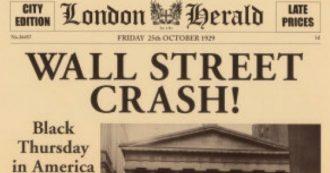 Crollo di Wall Street, 90 anni fa aveva inizio la Grande Depressione. E la colpa è sempre del mercato