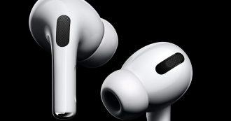 AirPods Pro sono i nuovi auricolari Apple con cancellazione attiva del rumore