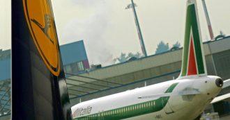 """Alitalia, lettera di Lufthansa a Fs e ministero: """"Disponibili a considerare l'investimento"""". Ma mette paletti anche sul costo del personale"""