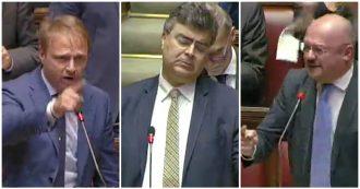 """Fiano (Pd) prende la parola in Aula e qualcuno gli urla """"sionista"""": scoppia la bagarre alla Camera tra Fratelli d'Italia e il Partito democratico"""